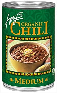 Amy's Organic Medium Chili, 14.7-Ounce Cans (Pack of 12)