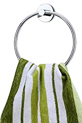 KRM Moonstone Pure Brass Towel Ring - Chrome Plate (Silverish)