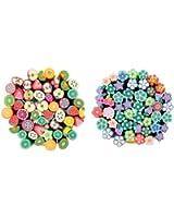 100 canes fimo 3D nail art manucare ongle déco de autocollantes relief ongles Fruits et Fleurs