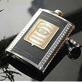 ダニエル Jack Daniel\'s スキットル ヒップフラスコ ファンネル(漏斗) + カップ付き プレゼントに最適なギフトボックス! 7オンス(200ml) 【ASAP】