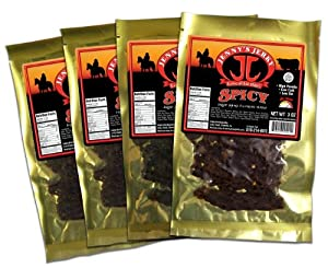Jennys Spicy Beef Jerky 3oz 4-pack from Jenny's Jerky