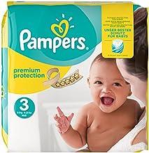 Pampers Premium Protection Größe 3 (Mini) 5-9kg, Windeln, 1er Pack (1 x 204 Stück)