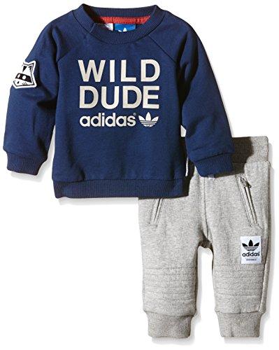 Adidas Baby Trainingsanzug Magic Forest French Terry, Oxford Blue F15-St/Mist Stone F15-St, 68, AB1791