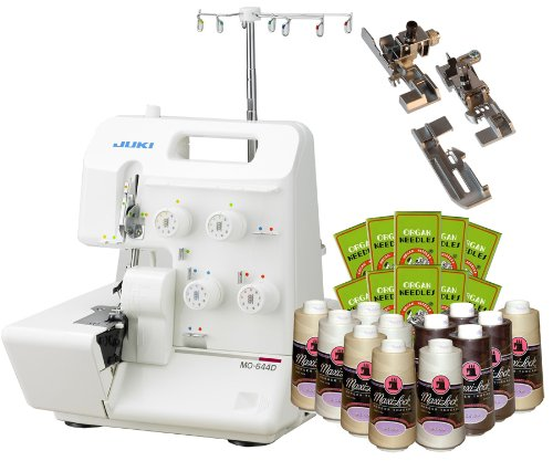 Great Features Of Juki Garnet Line MO-644D 2-Needle, 2/3/4 Thread Serger PACKAGE w/ FREE 3-foot kit,...