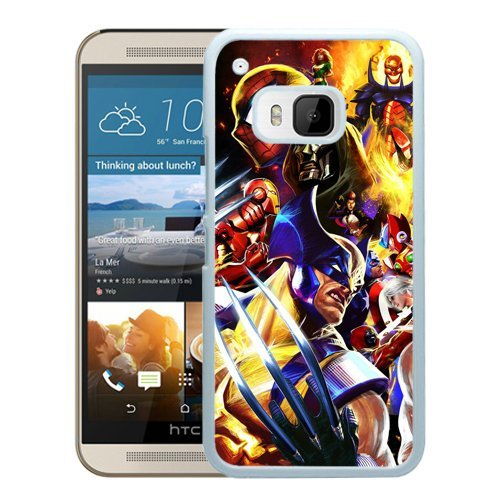 Best Diy Beautiful Designed Cover case cover For HTC ONE M9 With marvel vs capcom White cell phone case i9OKD2lslZZ cover