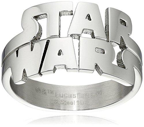 Star Wars Logo Cut Out anello in acciaio inox, Acciaio inossidabile, 11, cod. SWLGFR01-11