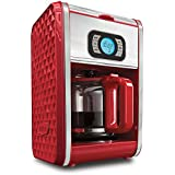 BELLA 13776 Diamonds Collection 12-Cup Programmable Coffee Maker, Red