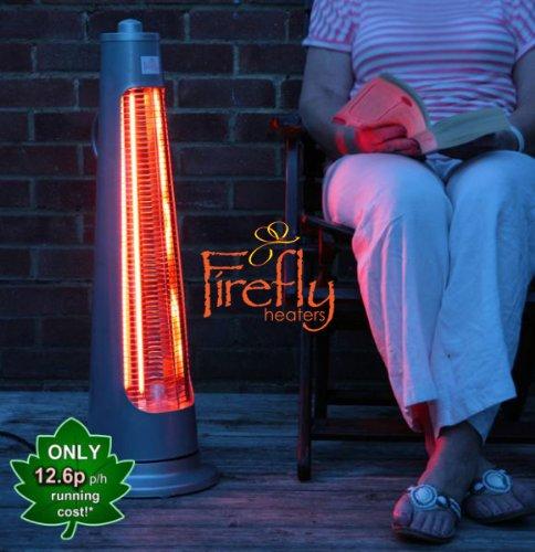 Firefly Streamline Freestanding Halogen Heater with 2 Power Settings