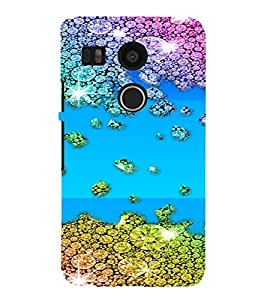 PrintVisa Gems & Diamonds Pattern 3D Hard Polycarbonate Designer Back Case Cover for LG Google Nexus 5X