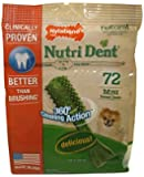Nylabone Products NTD300M72W Nutri-Dent Dog Chews, Mini, 72-Pk. - Quantity 4