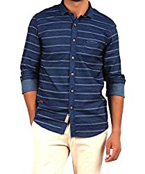 Volume Zero Men's Casual Shirt Blue (1001BLUE38)