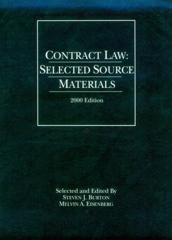 Contract Law: Selected Source Materials (Statutory Supplement)