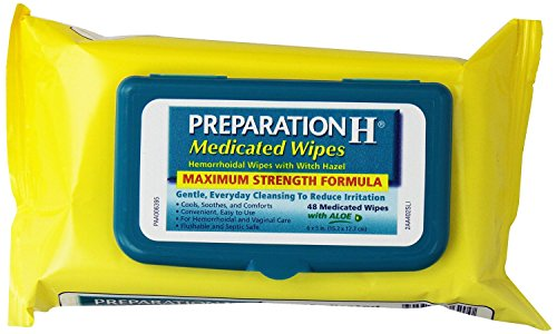 Preparation H Medicated Hemorrhoidal Wipes with Witch Hazel and Aloe, 48-Count Refill Packages (Pack of 8) (f4062k)