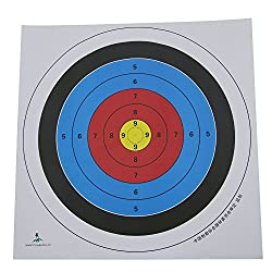 Generic 5x Archery Target Faces Heavy Gauge Paper for Recurve Bow - 60*60cm
