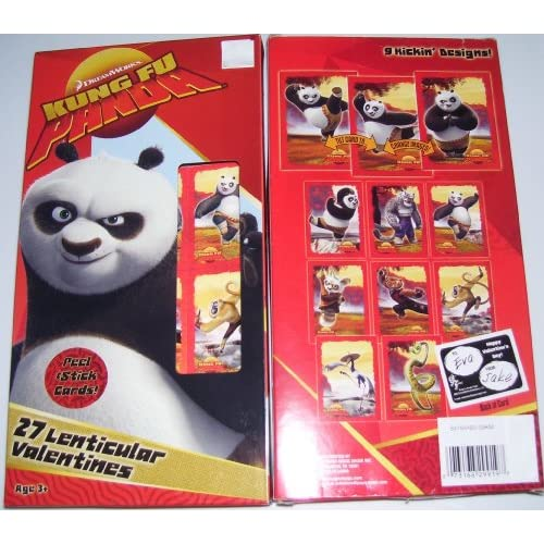 Kung Fu Panda Lenticular Holgraphic Valentines Day Cards Toys & Games