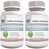 #1 Rated Phytoceramides with Vitamin A, C, D and E|Two Bottle Pack|Formulated for Anti-Aging Skin Rejuvenation| All Natural Rice Based Ceramides 40mg |**Gluten Free**|30 Count Bottles|Free Shipping!