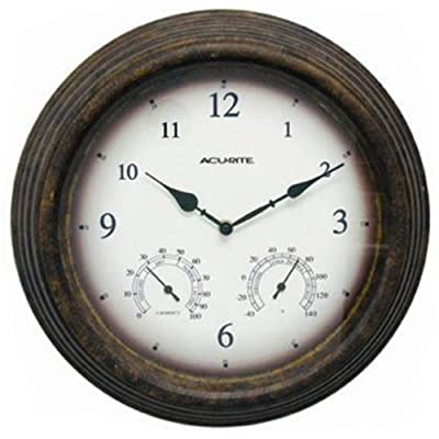 Acu-Rite Indoor/Outdoor 15 in. Wall Clock by Chaney Instrument Co