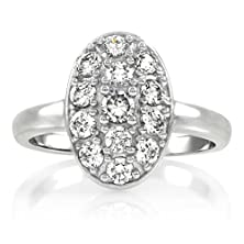 buy Carleen'S Vintage Oval Cubic Zirconia Pave Engagement Ring