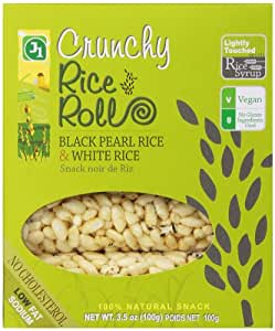 J1 Crunchy Rice Rolls Black Pearl Rice and White Rice, 3.5