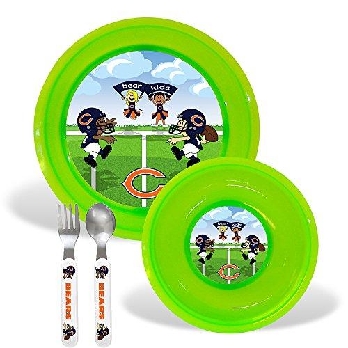 Chicago Bears Nfl Bpa Free Toddler Dining Set (4 Piece)