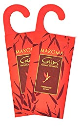 Maroma Pack of 2 All Natural Moth Repellent Hanging Sachets with Cedar
