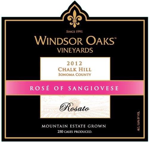 2012 Windsor Oaks Vineyards Chalk Hill Rosato Rose Of Sangiovese 750 Ml