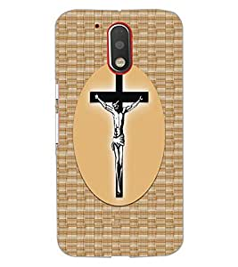 PrintDhaba Cross D-6068 Back Case Cover for MOTOROLA MOTO G4 (Multi-Coloured)