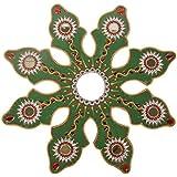 Chandrakala Wooden Rangoli (32 Cm X 32 Cm X 32 Cm, Green)