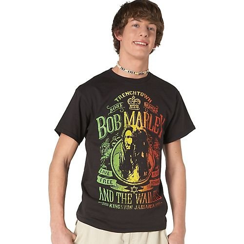 Zion Rootswear Bob Marley Soul Rebel T-Shirt BLACK X-Lg