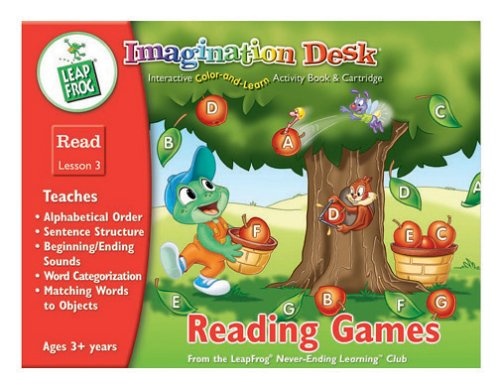 5183Q457C0L Cheap Price Imagination Desk: Reading Games Interactive Color And Learn Activity Book and Cartridge