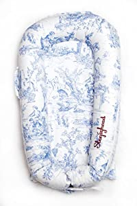 Sleepyhead Deluxe Cover (Toile De Jouy Dusty Blue)