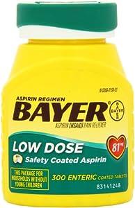 Amazon Com Bayer Aspirin Regimen Low Dose 81mg Enteric