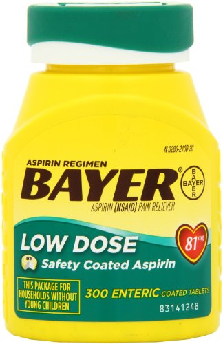 Bayer Aspirin Regimen Low Dose 81mg, Enteric Coated ...