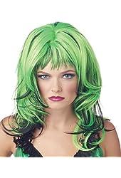 Wig Hard Rockin Witch Black Green