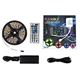 Razon LED Strip Lights RGB 5050 Waterproof Flexible Color Changing Light with 44 Key Remote 12V RGB LED 16.4ft 300 LEDs
