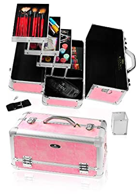 Best Cheap Deal for SHANY Snake Skin Pink Aluminium Train Case with Shoulder Strap, 4-Pounds by SHANY - Free 2 Day Shipping Available