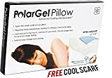 "Polargel Cool Pillow Mat, Extra Large Size - 12"" X 22"", Spans the Whole Width of Your Pillow - Helps Regulate Body Temperature, Leading to a Deeper More Restful Sleep - No Sharp Fraying Edges Like Other Brands with Our High Quality Stitched Seams - Bonus Items Worth $18.90 Included - FREE SHIPPING - Plus Lifetime Guarantee"