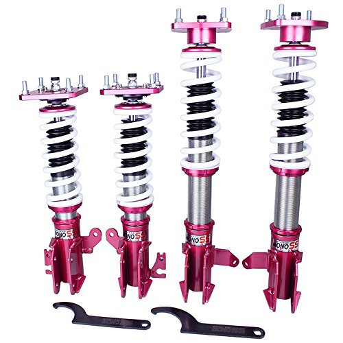 Godspeed ( MSS1020-A) MAZDA PROTEGE 99-02 ( Fit MP3 Model ) MonoSS Coilover Suspension Coilover Full adjustable 16 way Suspension Kit Monotube shock design W/ Front Camber Plate (2000 Mazda Protege Coilovers compare prices)
