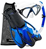 Phantom Aquatics Speed Sport Mask Fin Snorkel Set, BL-LG