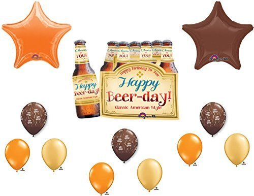 6-PACK HAPPY BEER DAY BIRTHDAY PARTY Balloons Decorations Supplies by Anagram (Beer Party compare prices)