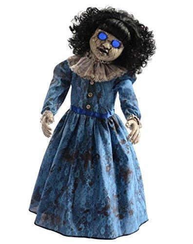 [Blue Antique Doll Animatronics Haunted Doll 2.5 ft] (The Scream Painting Halloween Costume)