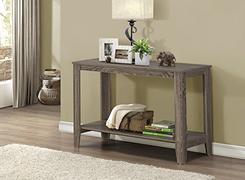 Monarch Specialties Dark Taupe Reclaimed-Look Sofa Console Table (Reclaimed Wood Console Table compare prices)