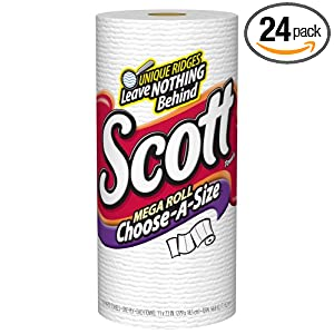 Scott Towel Mega Roll Choose-A-Size, 102-Sheet Rolls (Pack of 24)