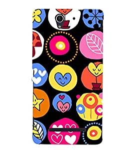Cute Hearts Wallpaper 3D Hard Polycarbonate Designer Back Case Cover for Sony Xperia C3 Dual :: Sony Xperia C3 Dual D2502