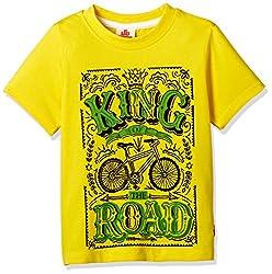 UFO Boys' T-Shirt (AW-16-KF-BKT-202_Yellow_14 - 15 years)