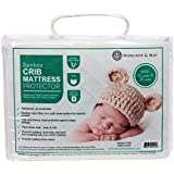 Ultra Soft Crib Mattress Protector Pad From Bamboo Rayon Fiber by Margaux May, Waterproof Fitted Quilted Mattress Protector Pad for Your Crib. High Absorbency and Stain Protection Baby Cover Made for Superior Comfort.