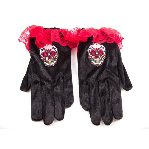 HMS Day Of The Dead Velour Gloves