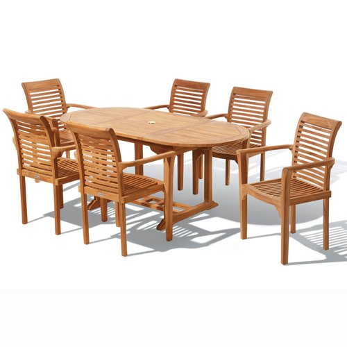 Java Teak 13 Piece Chelsea Design Garden and Patio Dining Set!!! END OF SEASON SALE