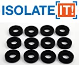 "Isolate It!: Sorbothane Vibration Isolation Washer 50 Duro (.45"" ID - 1"" OD - .19"" Deep) - 12 Pack"