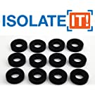 Isolate It: Sorbothane Vibration Isolation Washer 70 Duro - 12 Pack